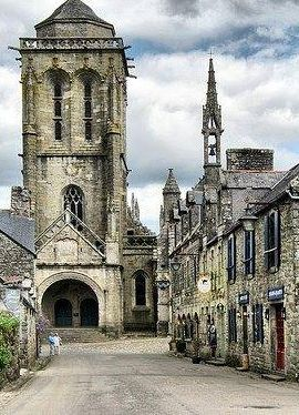 Village Square, Locronan, France , from Iryna
