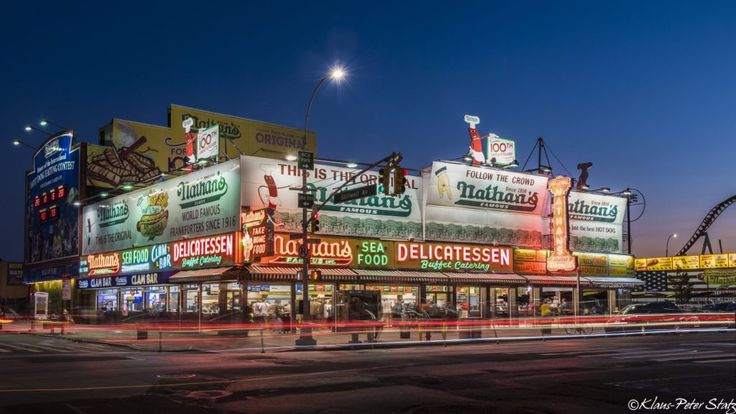 Nathan's Famous Hot Dogs in Coney Island and Manhattan,