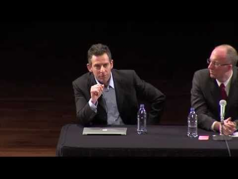 Sam Harris (atheist) and Dr. William Lane Craig at Notre Dame University, April 2011.