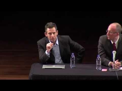 Sam Harris (atheist) and Dr. William Lane Craig at Notre Dame University, April 2011.
