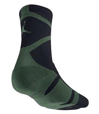 NWT AIR JORDAN Black Green DRI-FIT CREW JUMPMAN SOCKS 589042-013 SZ L 8-12 #Clothing, Shoes & Accessories:Men's Clothing:T-Shirts ##nike #jordan #girls $8.00