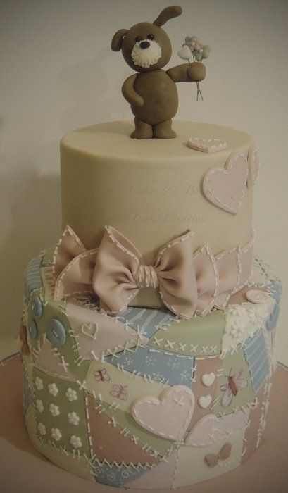 Love the quilt on the bottom tier! ShereensCakes