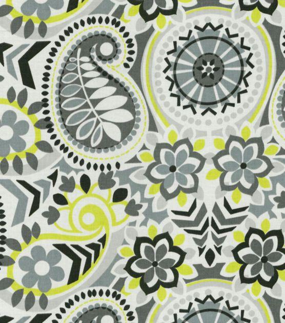 Home Decor Print Fabric-Waverly Paisley Prism Domino , , hi-res