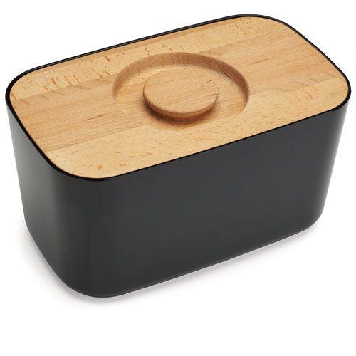 Boîte à pain en mélamine et bois Bread Bin Joseph Joseph -Noir