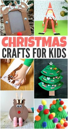Get your children ready for the holiday season with these 40 creative Christmas crafts for kids. From toddlers to older kids there are crafts here for all! #christmascrafts #kidscrafts