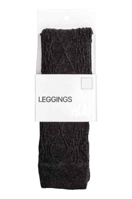 Leggings in maglia a trecce