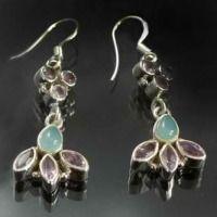15 Amethyst, Chalcedony Earrings