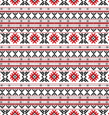 Traditional Russian embroidery pattern