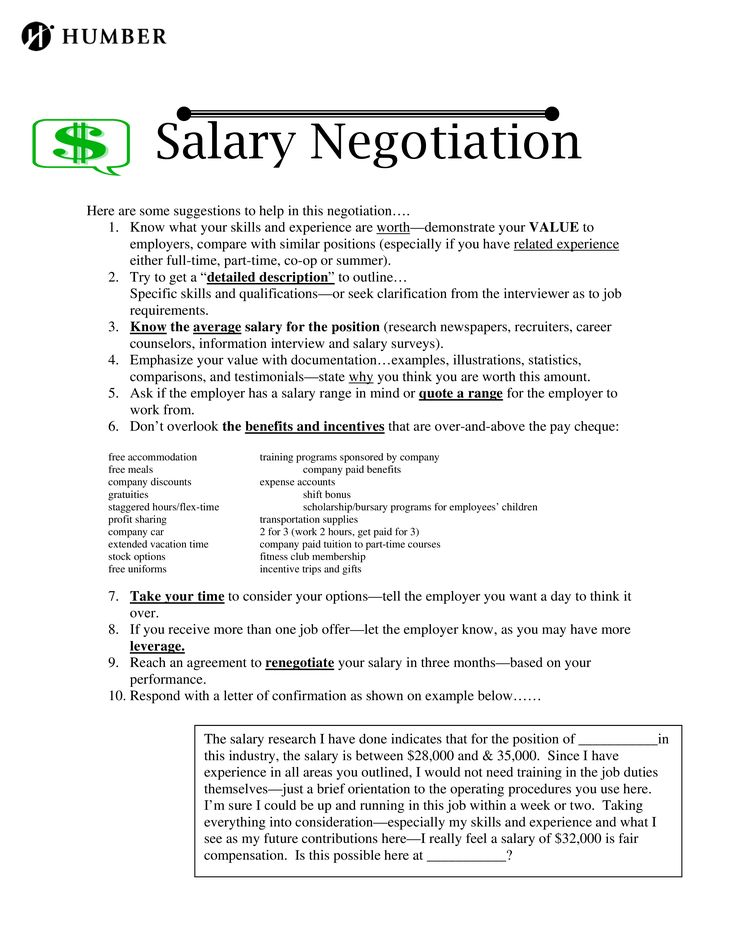 Salary Negotiation Letter How to write a Salary