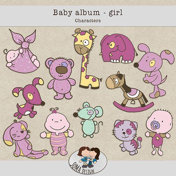 SoMa Design: Baby album - Girl - Characters