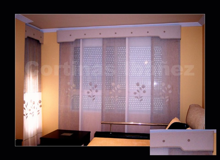 12 best creaciones en tela cortinas images on pinterest for Confeccion cortinas
