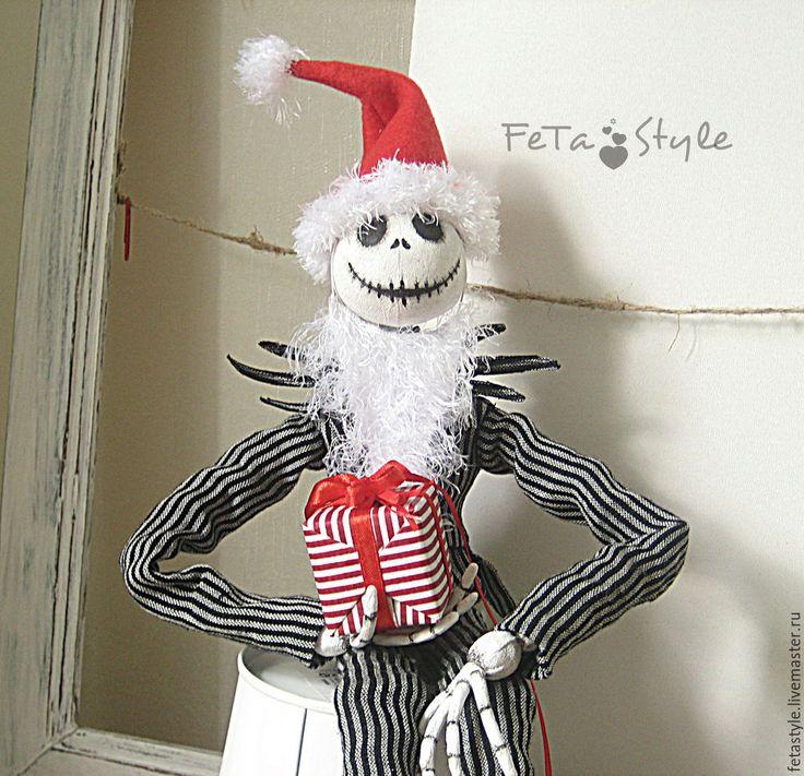 Купить Джек Скеллингтон Кукла текстильная коллекционная - кукла, кукла ручной работы, кукла текстильная