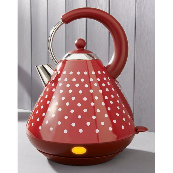 The classic polka dot design of the Kalorik rapid boil kettle offers the traditional styling of a vintage kitchen combined with high quality painted stainless steel housing and contemporary technology.