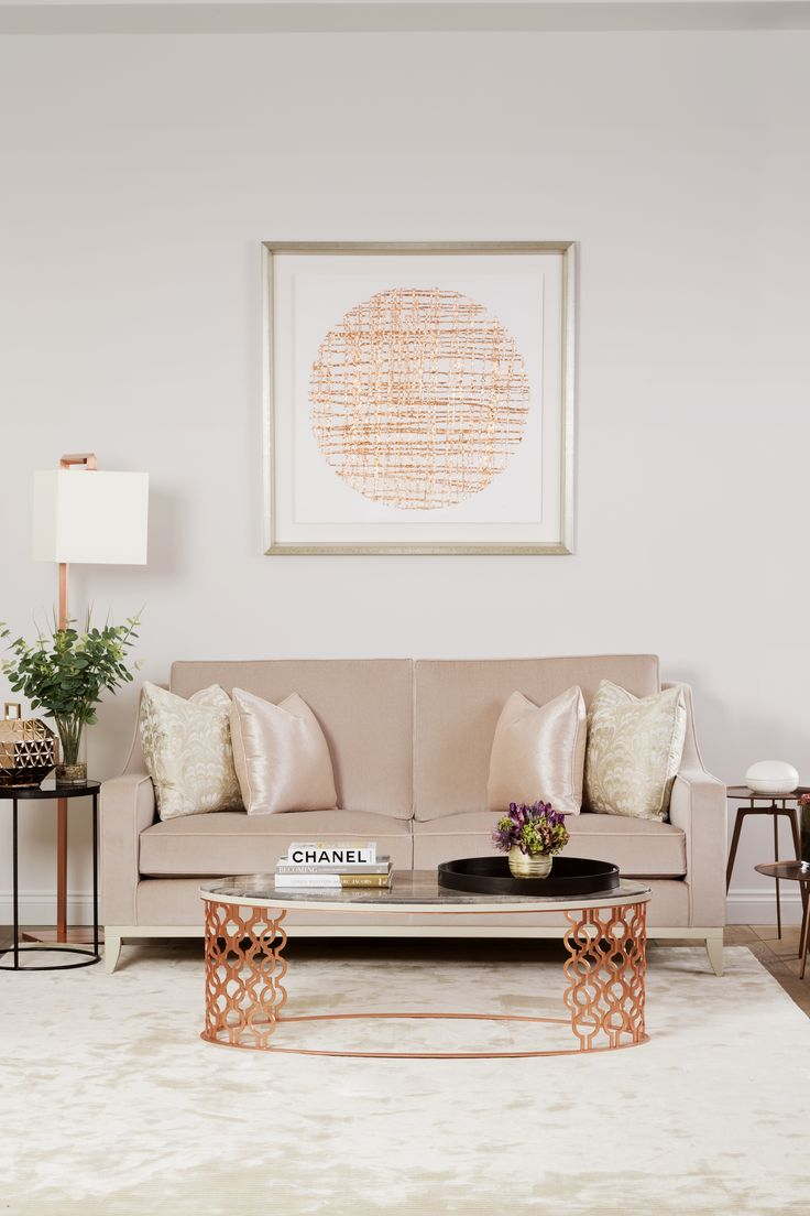 The Sofa Amp Chair Company Rose Gold Living