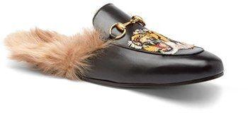 Men's Gucci 'Princetown' Genuine Kangaroo Fur Lined Loafer