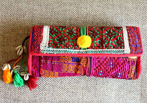 Vintage Kutch Embroidery Clutch (Design 23) – Desically Ethnic