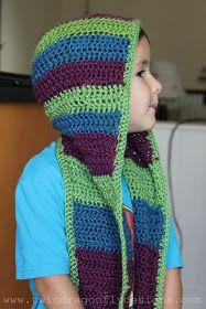 Dragonfly Designs: Crochet Hooded Scarf Pattern