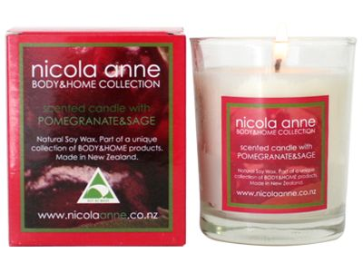 Nicola Anne Scented Candle with Pomegranate & Sage – Candles of New Zealand | Shop New Zealand NZ$ 33.90