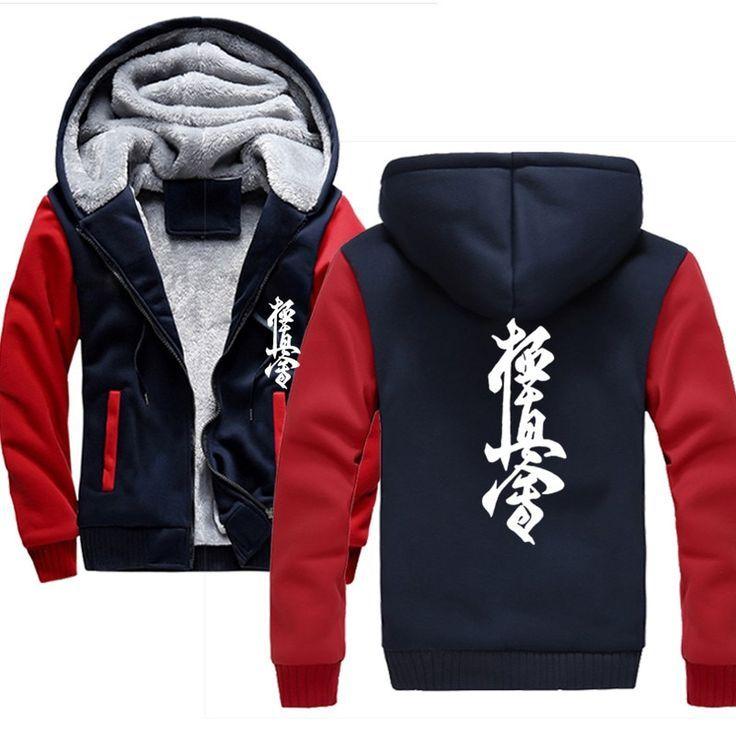 Volcán Imaginación borde  LAIDILANGTU Novelty Kyokushin Karate Hoodies 2018 Winter Thick …   Camisetas