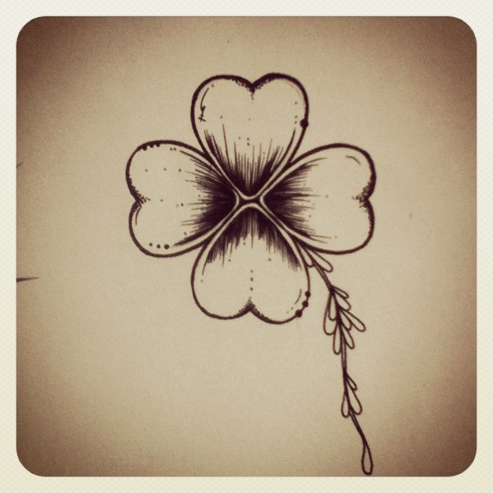 Less heart shaped...Brazilian clover  Tattoo  #viktornash #clover #tattoo