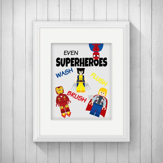 Superman Bathroom Decor: 49 Best Boys Bathroom Images On Pinterest