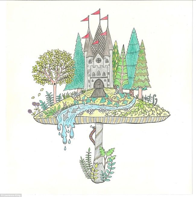 The Finished Product Of A Beautiful Illustration From Johanna Basfords Secret Garden An Inky Quest Colouring Book Available At Utility