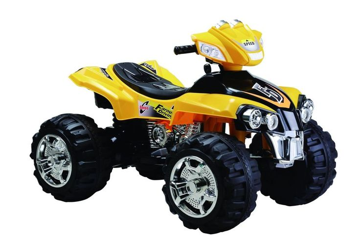 boys girls kids ride on toy big atv quad 4 wheeler off road style electric 12v yellow bestrideoncars best ride on cars pinterest ride on toys kid