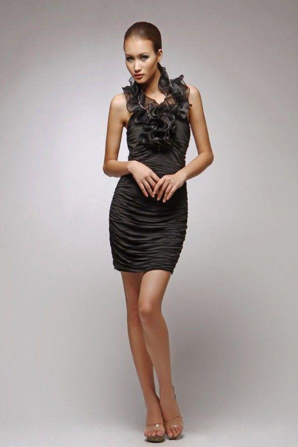 Sparkling Short Mini Cheap Sexy Black Bodycon Dresses UK Online