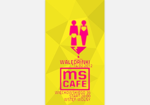 valentine's day poster design for ms cafe