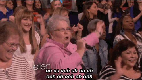 "Watch Ellen's Audience Stumble Their Way Through Singing ""Blurred Lines"" (via BuzzFeed)"
