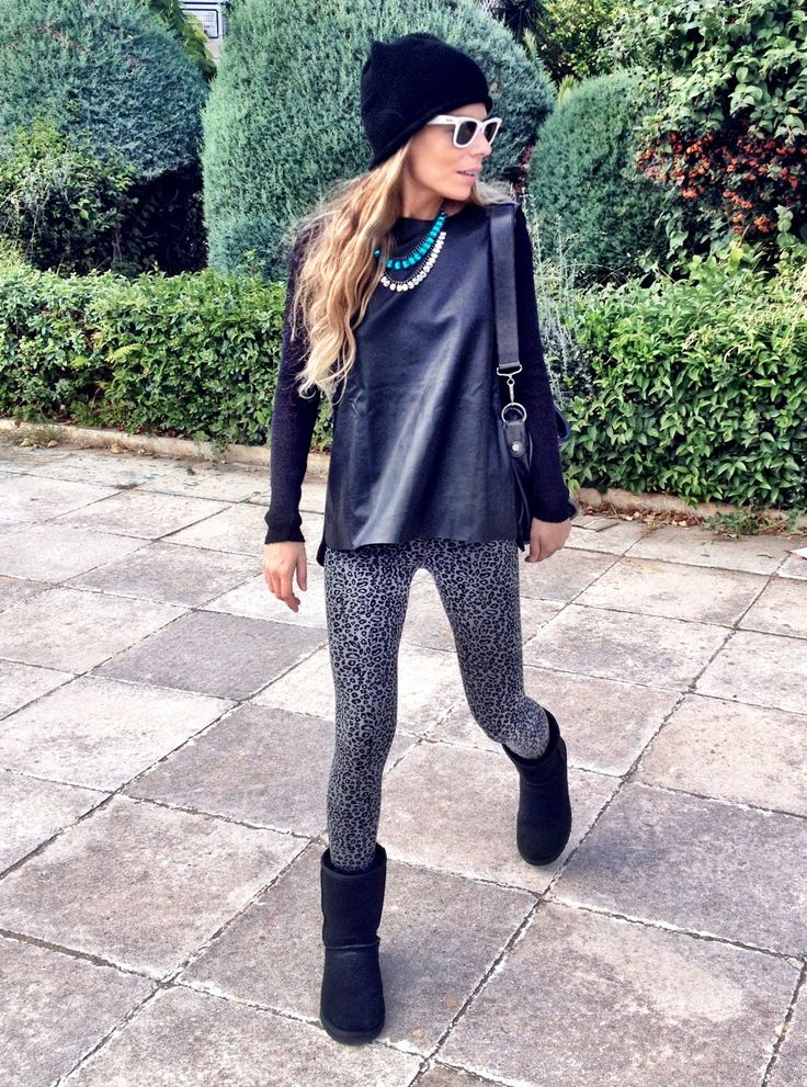 Black And White Leggings Outfit