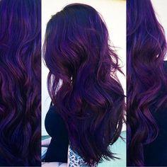 "Haircolor Specialist on Instagram: ""Aveda purple  20g pure violet + 5g pure blue + 20g universal 0N + 30g liquid activator .. #modernsalon @modernsalon"""