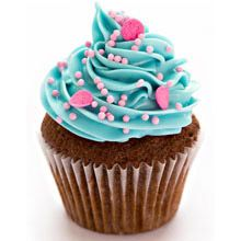 A good gift for girlfriend: Six Blue & Pink Fantasy Cupcakes
