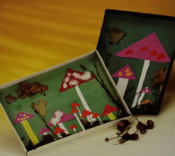 3d knutsel: paddenstoelen