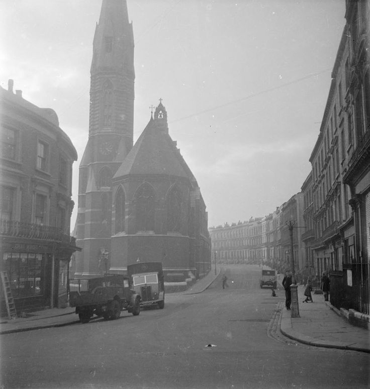 St Mary Magdalene church and Clarendon Crescent, Paddington - 1930s