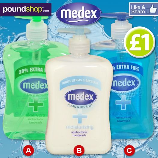 Be The Buyer! Which Medex handwash is your favourite?...A - Aloe Vera, B - Moisturising or C - Antibacterial? Let us know your thoughts www.poundshop.com/health-beauty/hand-nail-care/soap