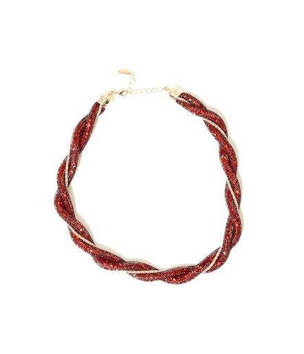 Collier maille rouge et or Camaïeu 2016