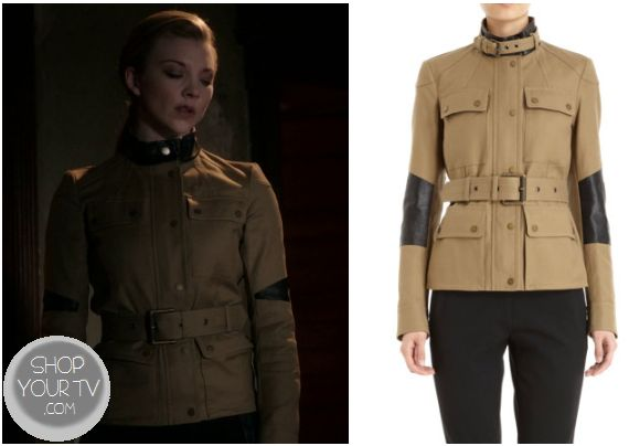 Elementary: Season 1 Episode 23/24 Irene Adler's Beige Coat with Leather Patches - ShopYourTv