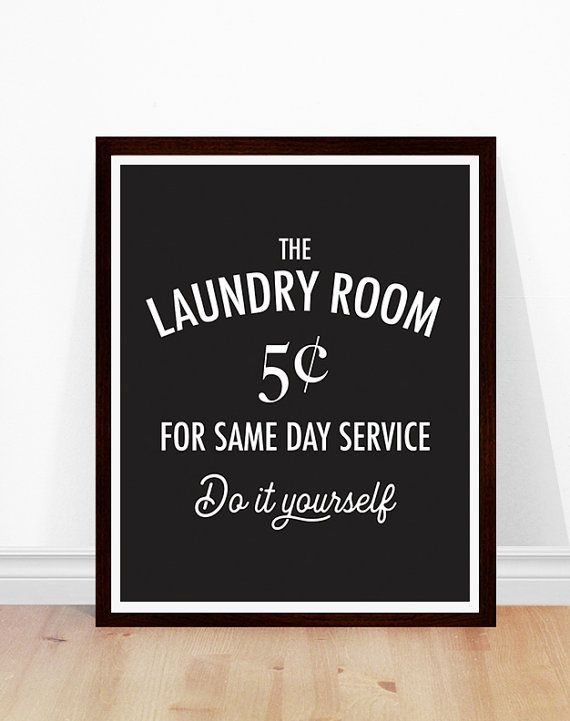 Laundry Room Art, Vintage Laundry Sign, Black and White Laundry Room, Laundry Room Decor, Modern Laundry Room, Laundry Art