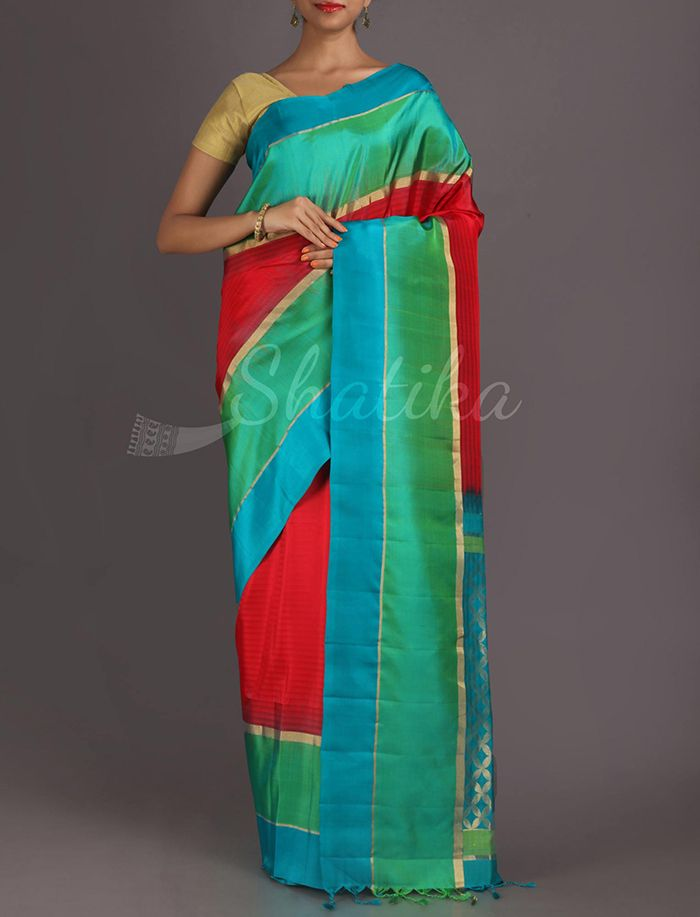 Savitri Dazzling Diamonds On Pallu Pure #PattuSilkSaree