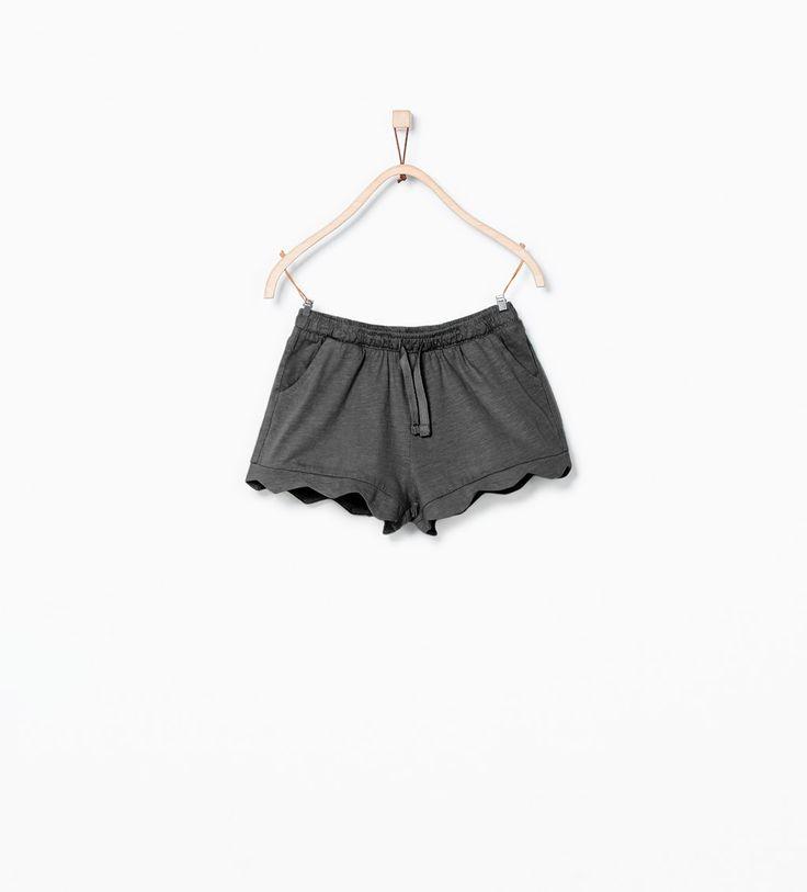 Image 1 of Organic cotton scalloped shorts from Zara