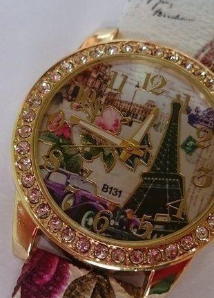 Kup mój przedmiot na #vintedpl http://www.vinted.pl/akcesoria/bizuteria/15066704-modny-kobiecy-zegarek-paryz-zapraszam