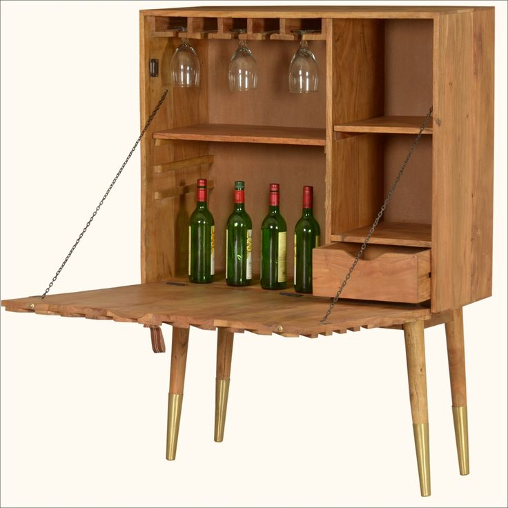 Be Ready To Entertain In An Instant With Our Echo X Standing Wine Bar  Liquor Cabinet