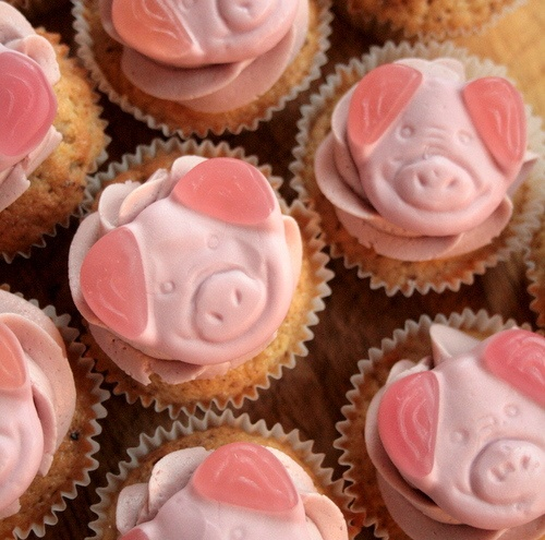 Percy Pig Cakes above