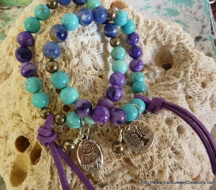 Intuition & Expression Bracelet - Inspirational handmade gemstone jewellery Earth Jewel Creations Australia