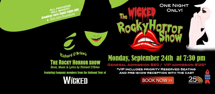 A week from today at Tropicana Las Vegas, the national touring company of WICKED The Musical will present THE WICKED ROCKY HORROR SHOW benefiting Broadway Cares/Equity Fights AIDS & Golden Rainbow!