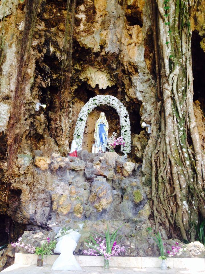 Beautiful shrine of Santa Lourdes Saipan