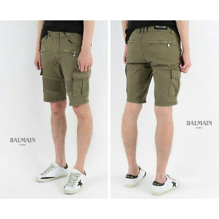 Balmain Khaki cargo Denim Shorts  발망 카키카고 하프팬츠 데님 반바지