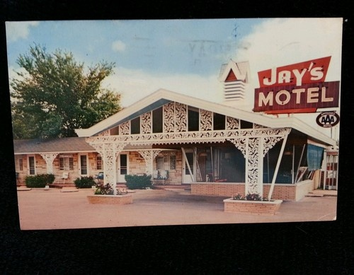 Vintage Postcard Jays Motel In Vandalia Illinois 1966