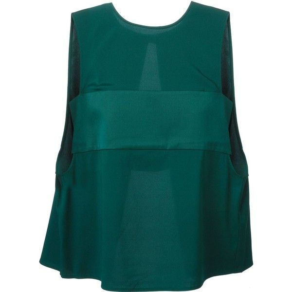 T By Alexander Wang Bandeau Bra Insert Top (4.855 ARS) ❤ liked on Polyvore featuring tops, green, green bandeau top, blue sleeveless top, bandeau tops, blue green tops and green sleeveless top